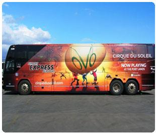 Cirque du Soleil Bus Wrap: Airport Express